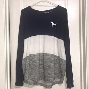 PINK long sleeve crew neck sweater